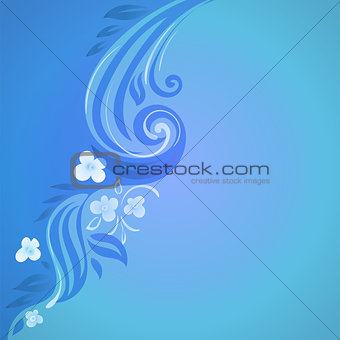 abstract vector background with flowers