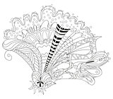 Zentangle stylized flower. Hand Drawn lace vector illustration