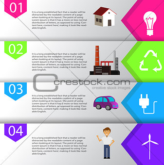 smart energy use infographic concept