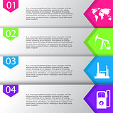 Industrial concept info graphic design,clean vector