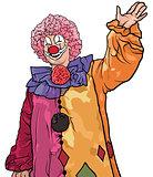 Happy Colorful Clown Waving