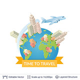 Travel vector background.