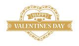 Valentines day design element