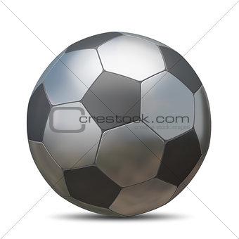 3D Illustration Metal Soccer Ball