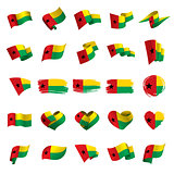 Guinea Bissau flag, vector illustration