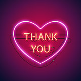 Thank You in the Heart Neon Sign