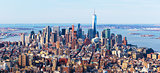 New-York city skyline. Aerial panorama of downtown