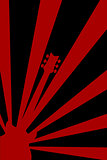 Abstract Guitar Poster Background