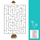 Maze game Help hedgehog to find a way to mushrooms with answer