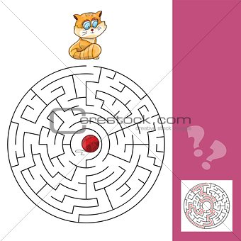 Kitten And Wool Ball - Maze Game with Solution