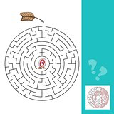 labyrinth with arrows. illustration - game with answer