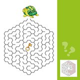turtle and the gold key - labyrinth game for Children with answer