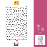 Maze. The ship - Children s game labyrinth. Kids puzzle with answer