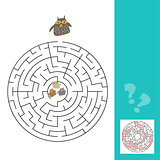 funny owls labyrinth game for Preschool Children with answer