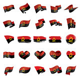 Angola flag, vector illustration