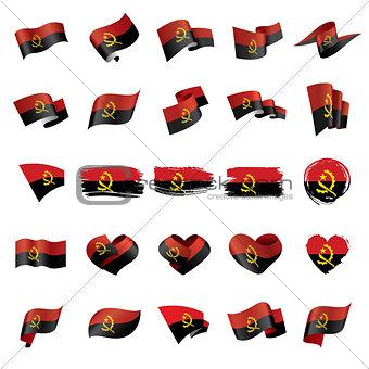 Angola flag, vector illustration