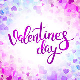 Vector background with hearts for Valentines day