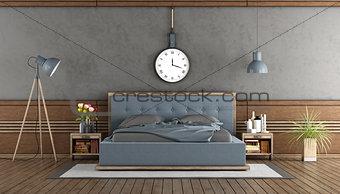 Elegant master bedroom with blue bedroom