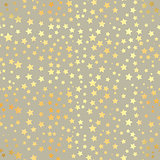Vector Gold star Seamless Pattern. Vector illustration. Shiny background. Texture of gold foil. EPS 10. Abstract seamless pattern with gold confetti stars.