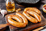 BBQ sausages with herbs
