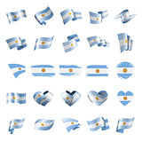 Argentina flag, vector illustration