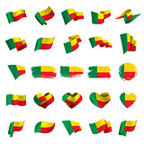 Benin flag, vector illustration