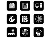 set of icons for computer and electronic theme