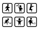 set of sport concept symbols