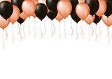 Black and orange Halloween celebrate air plastic balloon