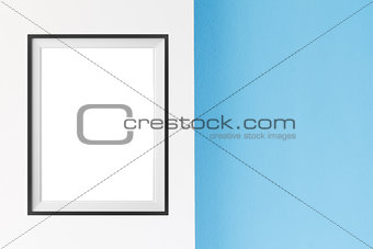 Poster frame mock up template with summer home decor