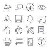 Different universal icons for apps, sites, programs and others. Editable Stroke.