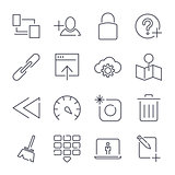 Internet and IT internet technology . Universal icons for web,