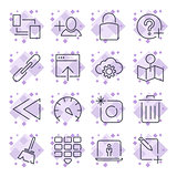 Internet and IT internet technology . Universal icons for web, programs, apps and other. Editable Stroke.