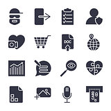 Different vector icons. Simple icons for apps, programs and site