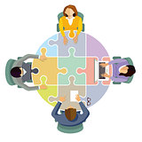 Team collaboration and connect, illustration