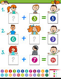 maths addition educational game with children