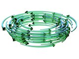 Green transparent arrows wreath 3D