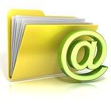 E-Mail symbol folder icon. 3D