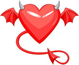 Devil Love Horned Heart