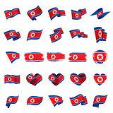 North Korea flag, vector illustration