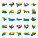 Comoros flag, vector illustration