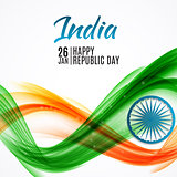 Happy India Republic Day26 January. Vector Illustration