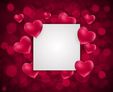 Valentine s Day Heart Love and Feelings Background Design. Vector illustration