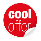 Cool Offer label sticker