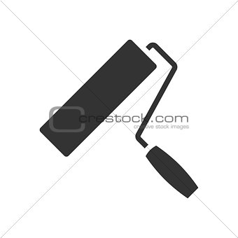 Paint roller black icon