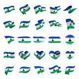 Lesotho flag, vector illustration