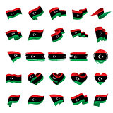 Libya flag, vector illustration