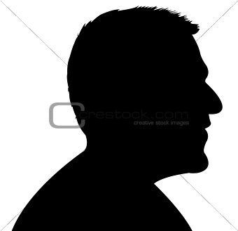 a man head sşlhouette vector