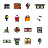 Financial icons, vector illustration.