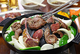 Jingisukan, genghis khan, Japanese style lamb barbecue